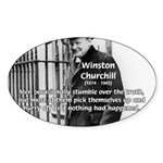 Churchill Fear of Truth Oval Sticker