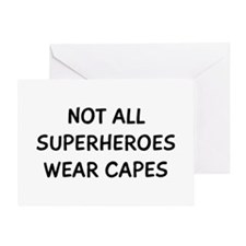 Not All Superheroes Greeting Card