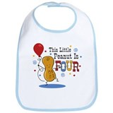 Little Peanut 4th Birthday Bib