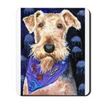 Beautiful Airedale Terrier Ocean Sea Mousepad