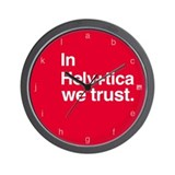 Helvetica Clock - Black Rim