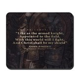 Armed Knight - Christ My Shield (Mousepad)