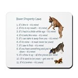 Boxer Laws Mousepad