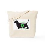 "Basset bag: ""Recycle. Adopt a dog."""