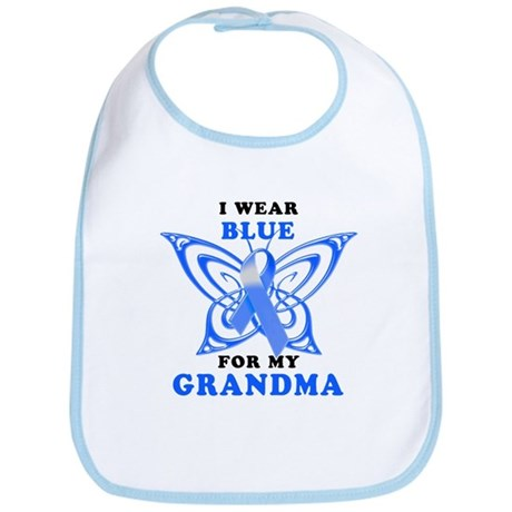I Wear Blue for my Grandma Bib