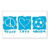 Peace.Love.Soccer Decal