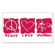 Peace.Love.Kickball Decal