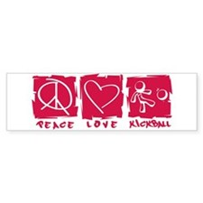 Peace.Love.Kickball Bumper Sticker