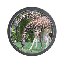 Mom and Kid Giraffe Wall Clock