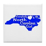 Everybody Loves a NC Girl (BW Tile Coaster