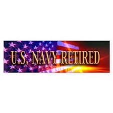 Navy Retired Bumper Sticker