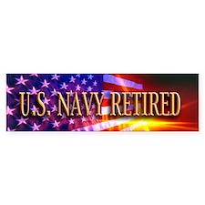 Navy Retired Bumper Sticker