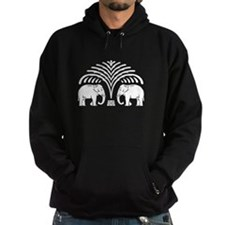 Elephants under Tree Hoodie