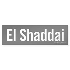 El Shaddai Bumper Bumper Sticker