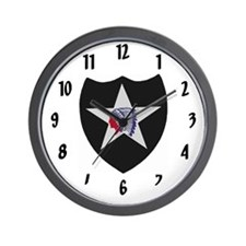 2nd Infantry Division Wall Clock