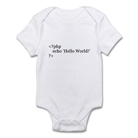 Infant Hello Wolrd code Bodysuit