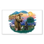 St Francis #2/ B Shepherd Sticker (Rectangle)