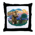 St Francis #2/ B Shepherd Throw Pillow