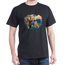 St Francis #2/ Bull Mastiff T-Shirt