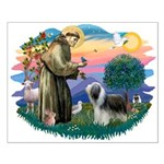St Francis #2/ Beardie (sw) Small Poster