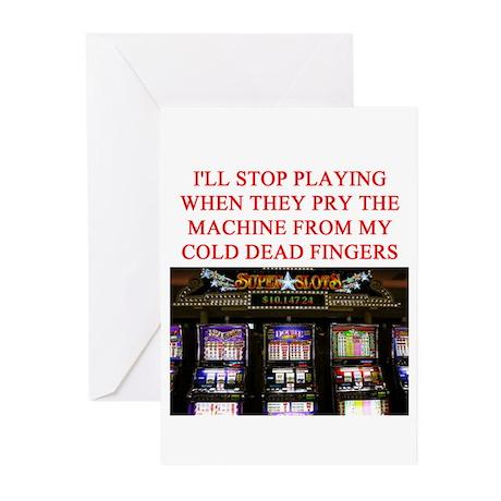 slota player joke Greeting Cards (Pk of 10)