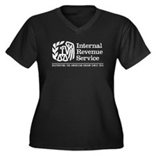 The IRS Women's Plus Size V-Neck Dark T-Shirt