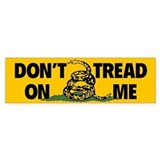 Dont Tread on Me Snake Flag Bumper Bumper Sticker