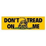 Dont Tread on Me Snake Flag Bumper Car Sticker