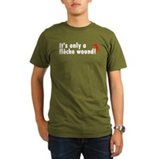 Fleche Wound Organic Men's Dark T-Shirt