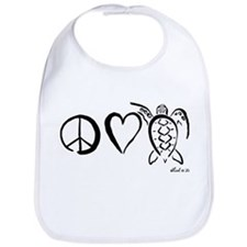 Peace, Love & Turtles Bib