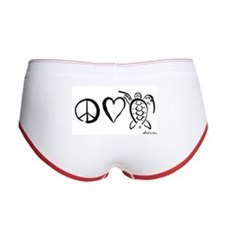 Peace, Love & Turtles Women's Boy Brief