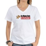 So Many Cats Women's V-Neck T-Shirt