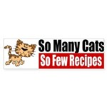 So Many Cats Sticker (Bumper 50 pk)