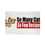 So Many Cats Rectangle Magnet (100 pack)