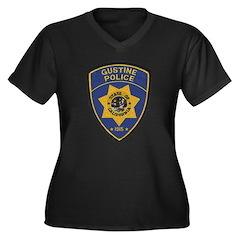 Gustine California Police Women's Plus Size V-Neck