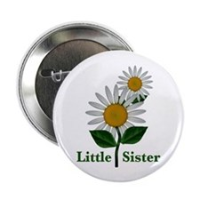 "Daisies Little Sister 2.25"" Button (10 pack)"