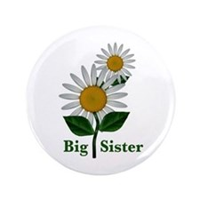 "Daisies Big Sister 3.5"" Button (100 pack)"