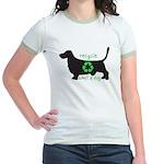 "Jr. Ringer T-Shirt: ""Recycle. Adopt a dog.&qu"