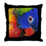 Polly Parrot Pretty Pillows Throw Pillow