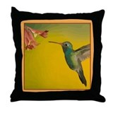 Hummingbird Pretty Pillows Throw Pillow