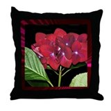 Red Hydrangea Pretty Pillows Throw Pillow