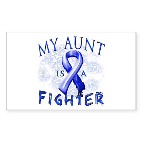 My Aunt Is A Fighter Sticker (Rectangle)