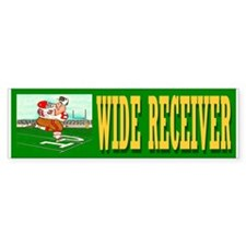 """WIDE RECEIVER"" Bumper Sticker"