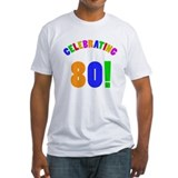Rainbow 80th Birthday Party Shirt