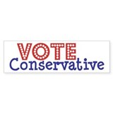 VOTE Conservative RB Bumper Sticker