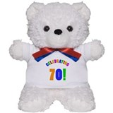 Rainbow 70th Birthday Party Teddy Bear
