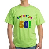 Rainbow 50th Birthday Party T-Shirt