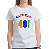 Rainbow 40th Birthday Party Tee