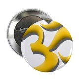 Yellow Om 2.25&quot; Button