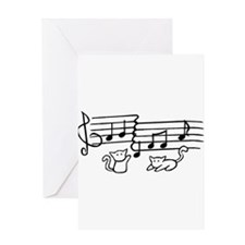 White Kitty Notes Greeting Card